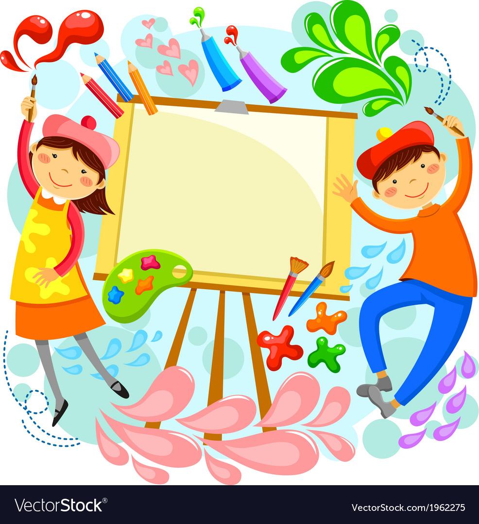 Artistic children vector | Price: 1 Credit (USD $1)