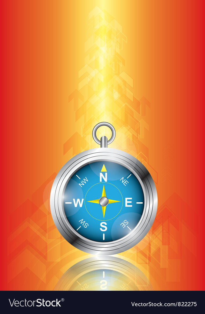 Compass with arrow background vector | Price: 1 Credit (USD $1)