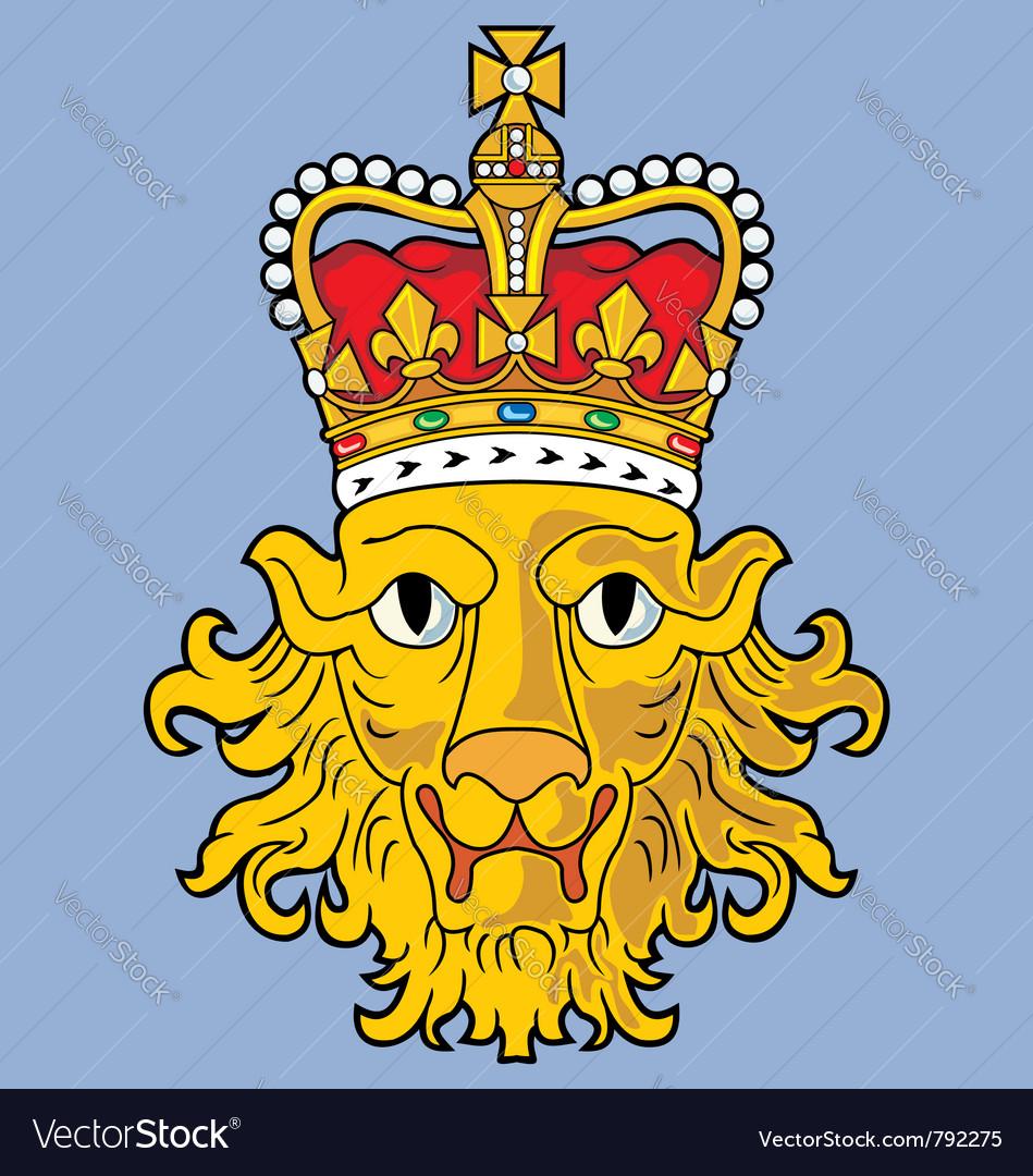 Heraldic lion vector | Price: 3 Credit (USD $3)