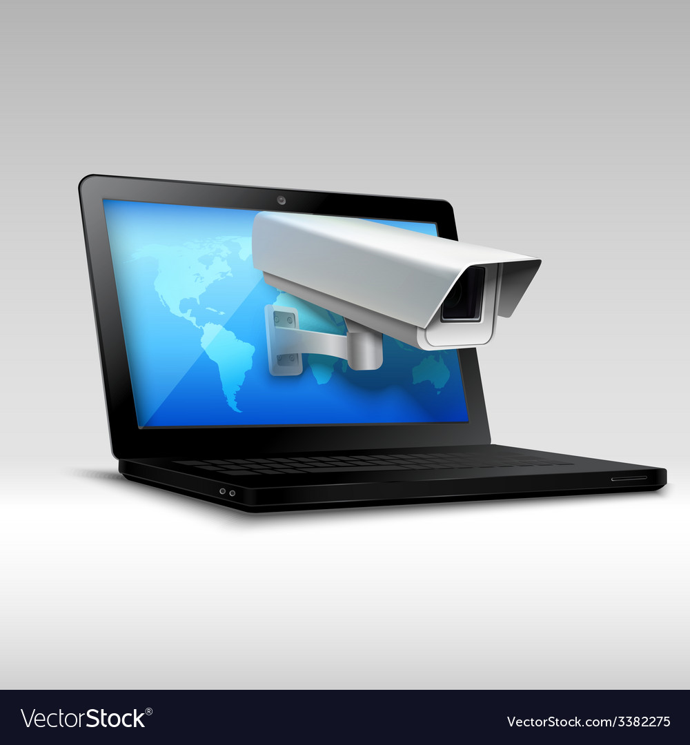 Laptop web security vector | Price: 1 Credit (USD $1)