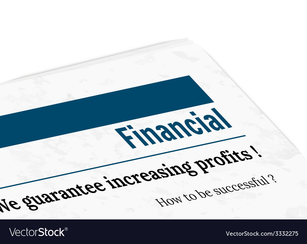 Newspaper - financial profit vector | Price: 1 Credit (USD $1)