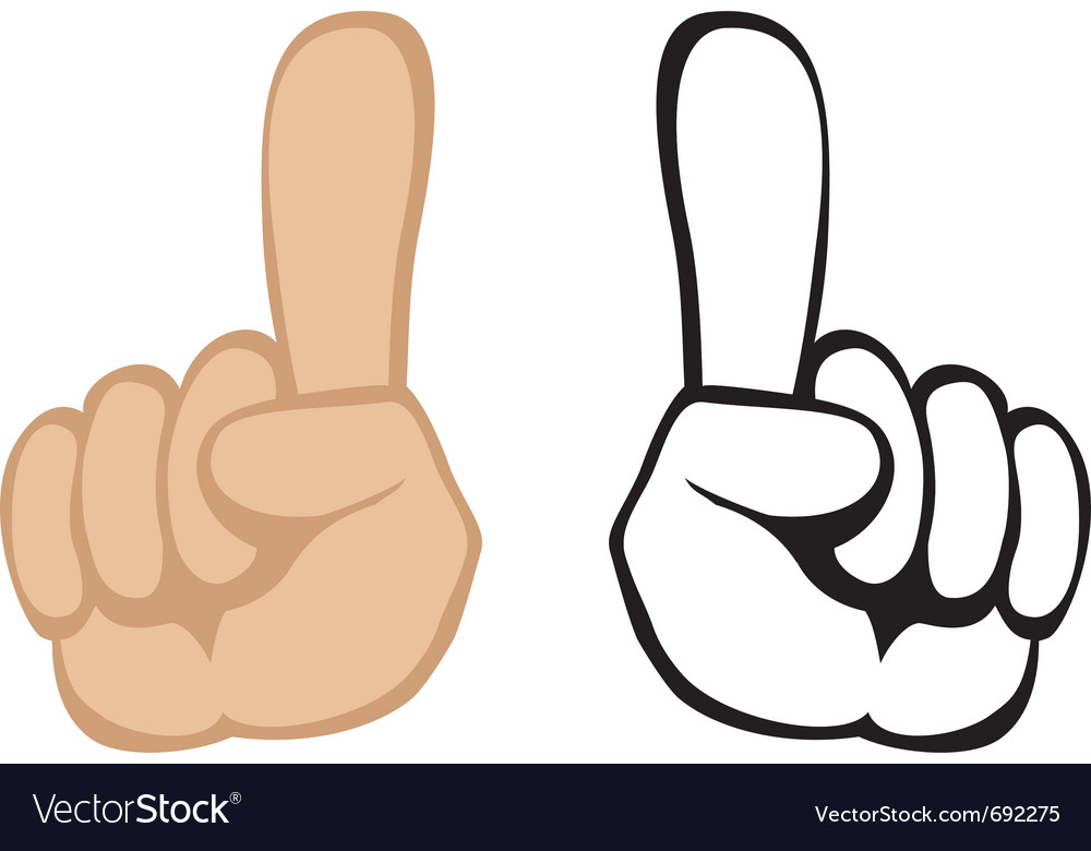 Pay attention handgesture vector | Price: 1 Credit (USD $1)