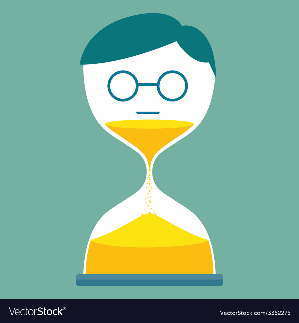 Sand time man vector   Price: 1 Credit (USD $1)
