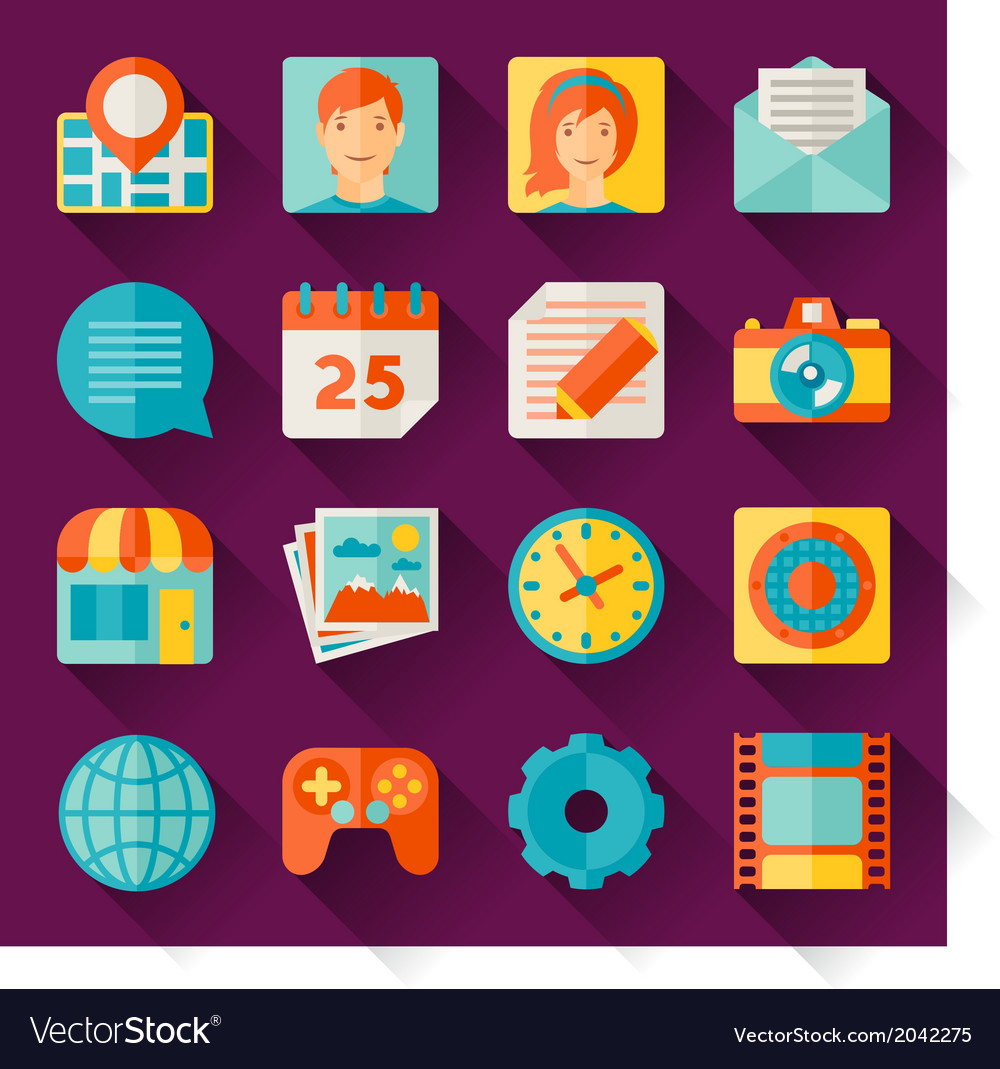 Seamless pattern with web and mobile icons vector | Price: 1 Credit (USD $1)