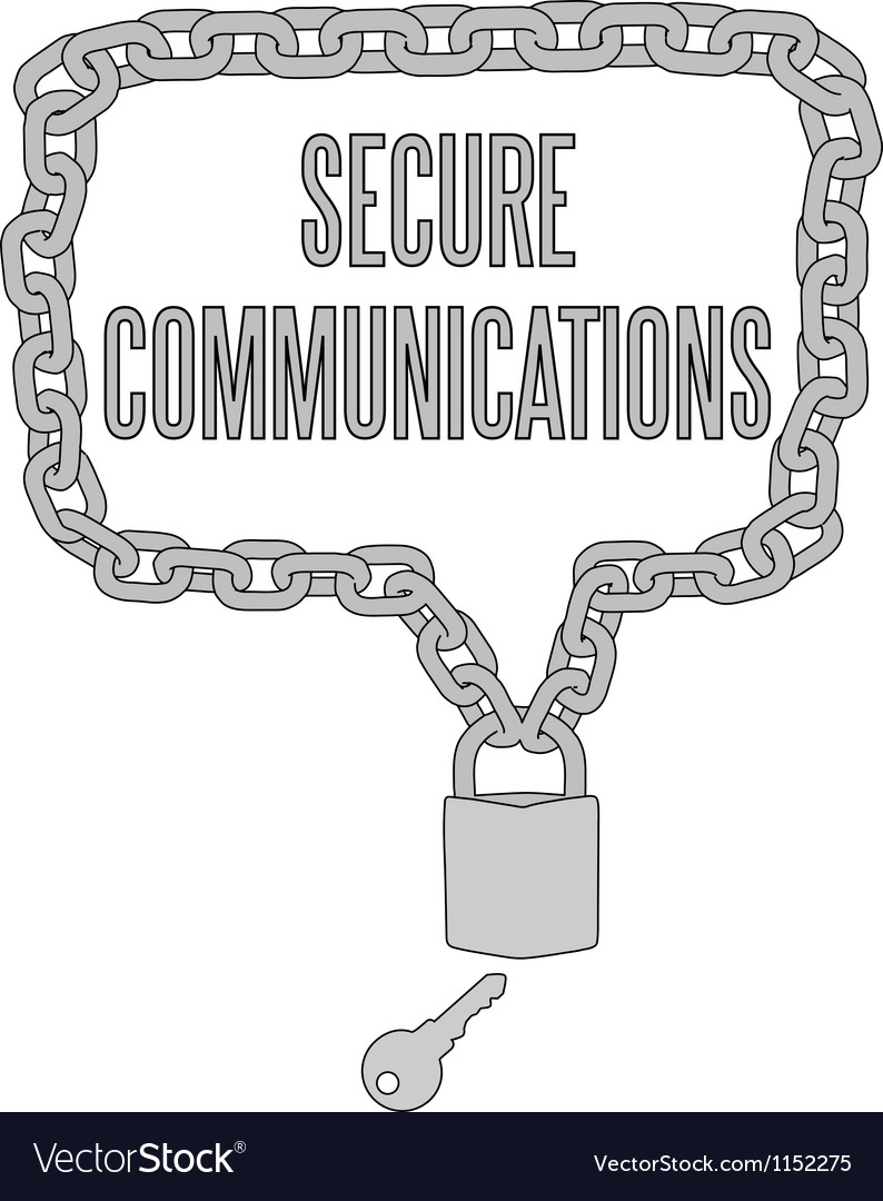 Secure communications chain lock frame vector | Price: 1 Credit (USD $1)