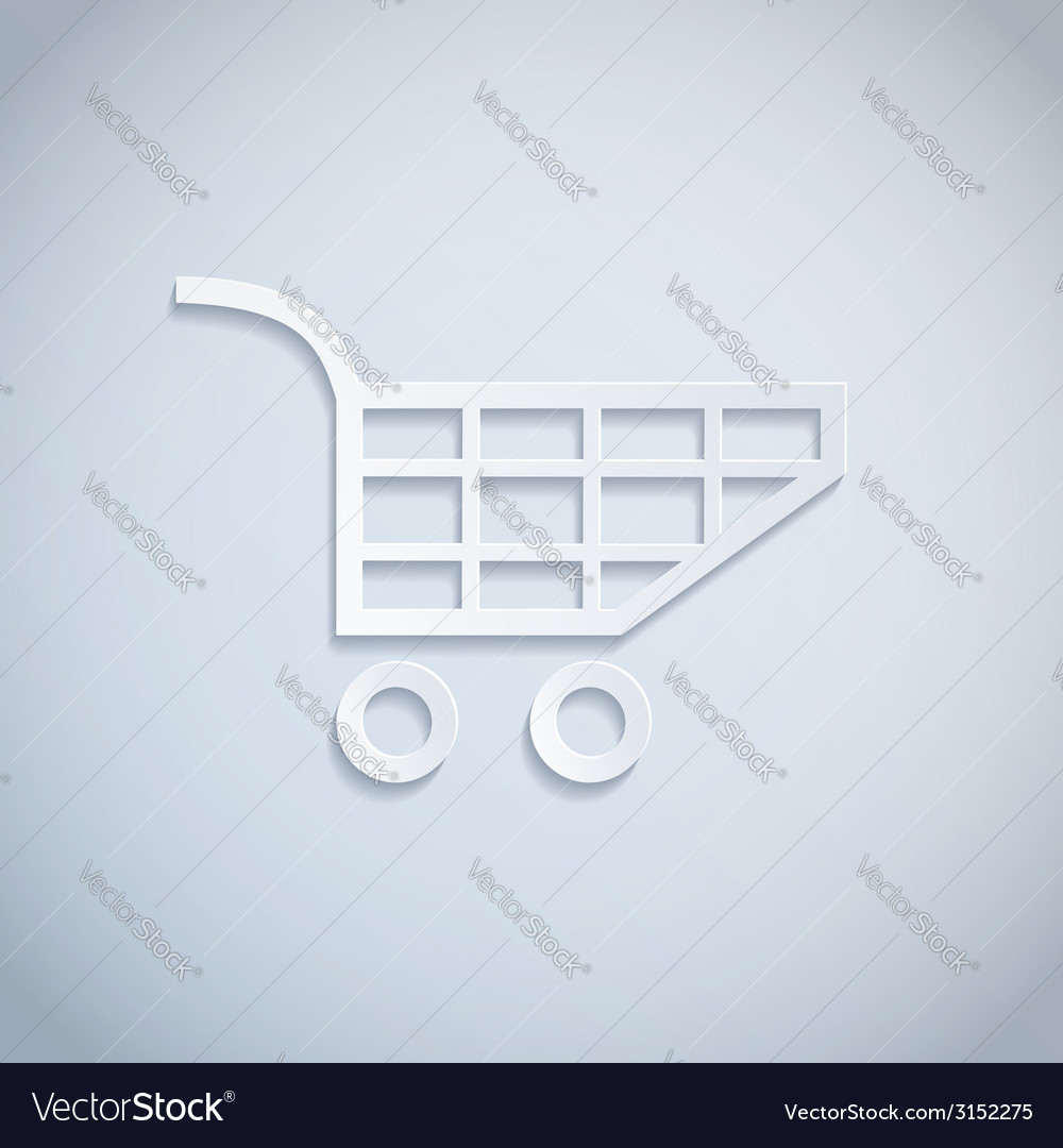 Shopping cart paper vector | Price: 1 Credit (USD $1)