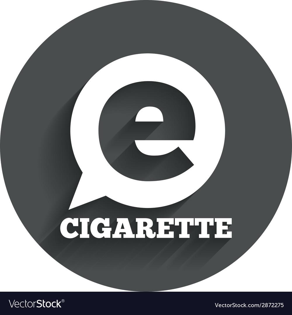 Smoking sign icon e-cigarette symbol vector | Price: 1 Credit (USD $1)