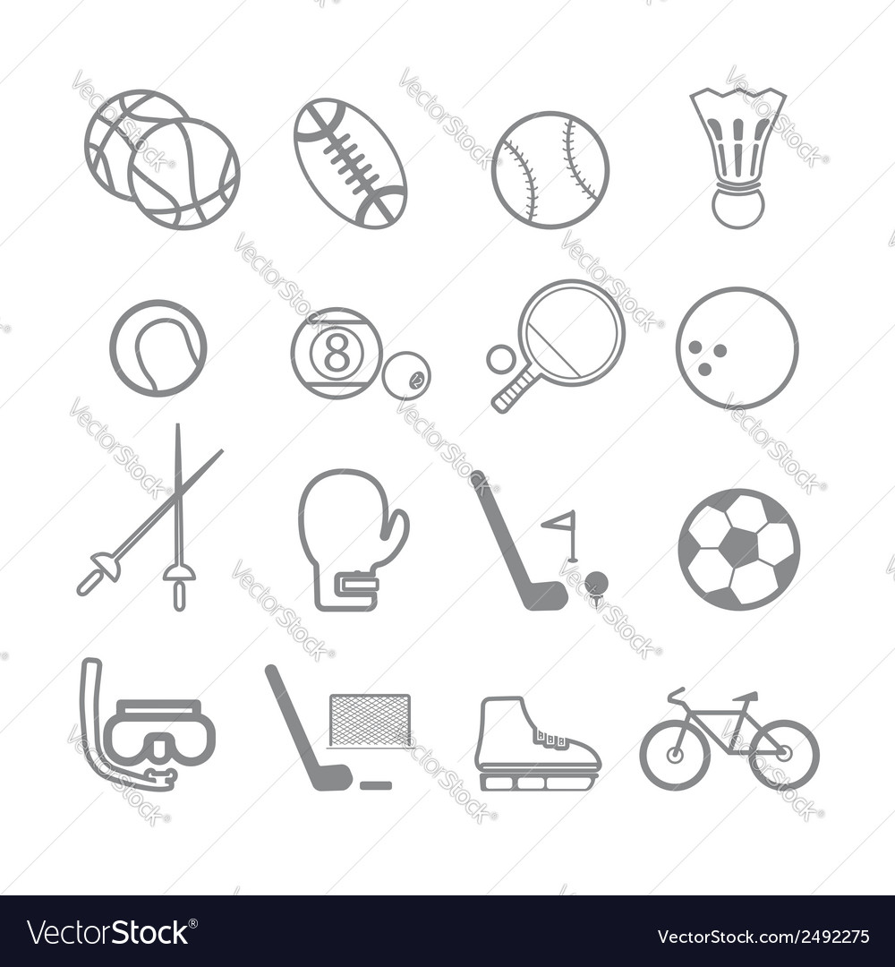 Sports icons line vector | Price: 1 Credit (USD $1)