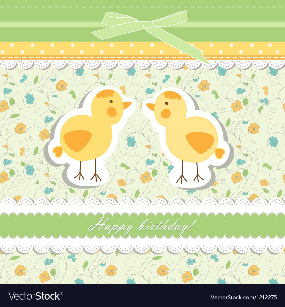 Vintage doodle bird chicken vector | Price: 1 Credit (USD $1)