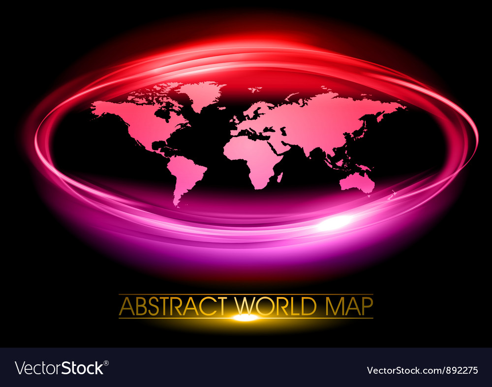 World abstract circle on black purple vector | Price: 3 Credit (USD $3)