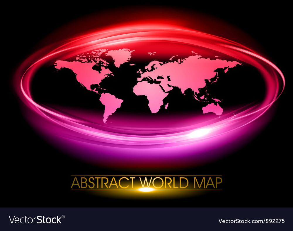 World abstract circle on black purple vector | Price: 3 Credit (USD $3)