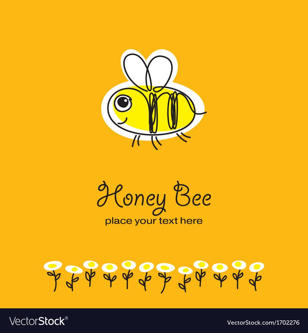 Bee sketch vector | Price: 1 Credit (USD $1)