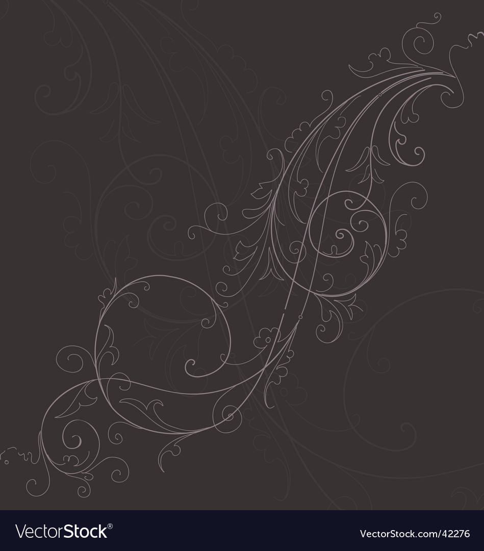 Fine flourish vector