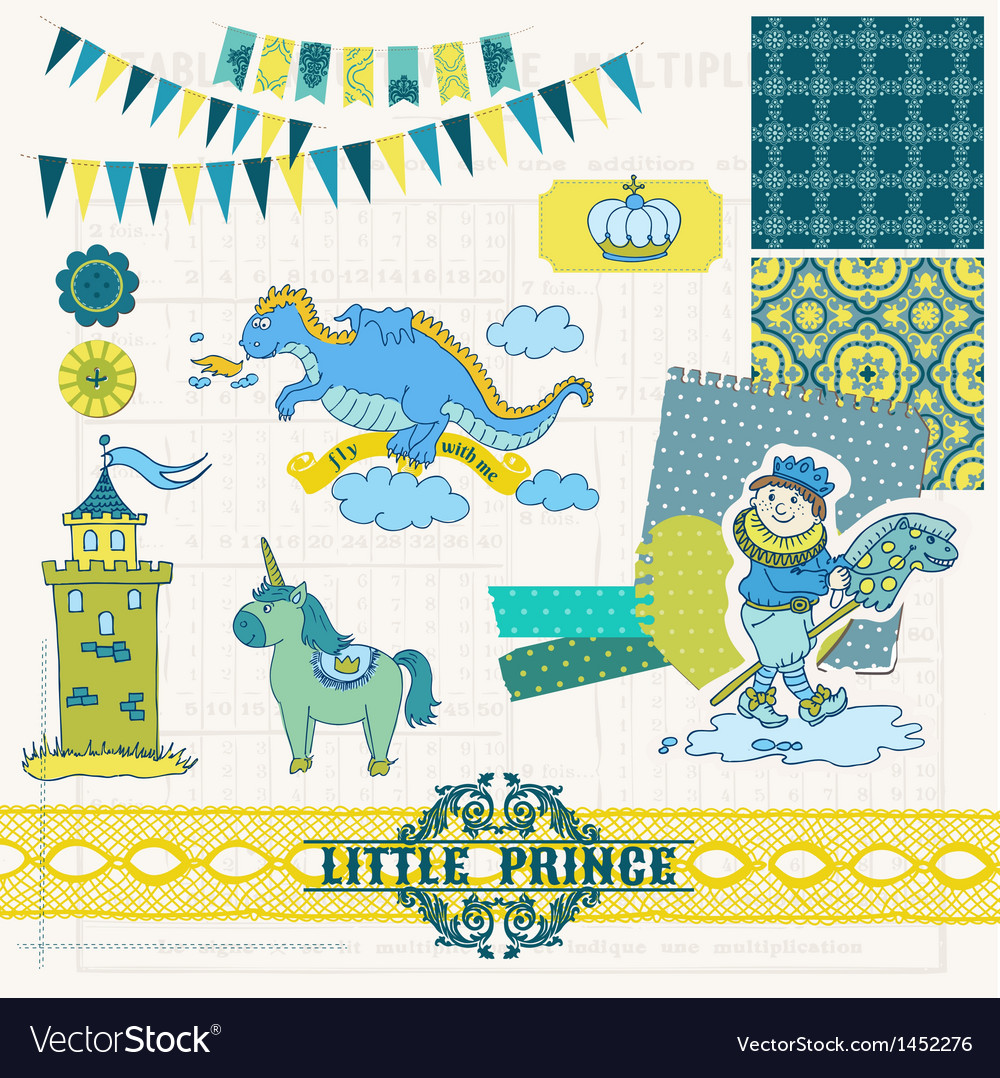 Little prince boy set vector | Price: 1 Credit (USD $1)