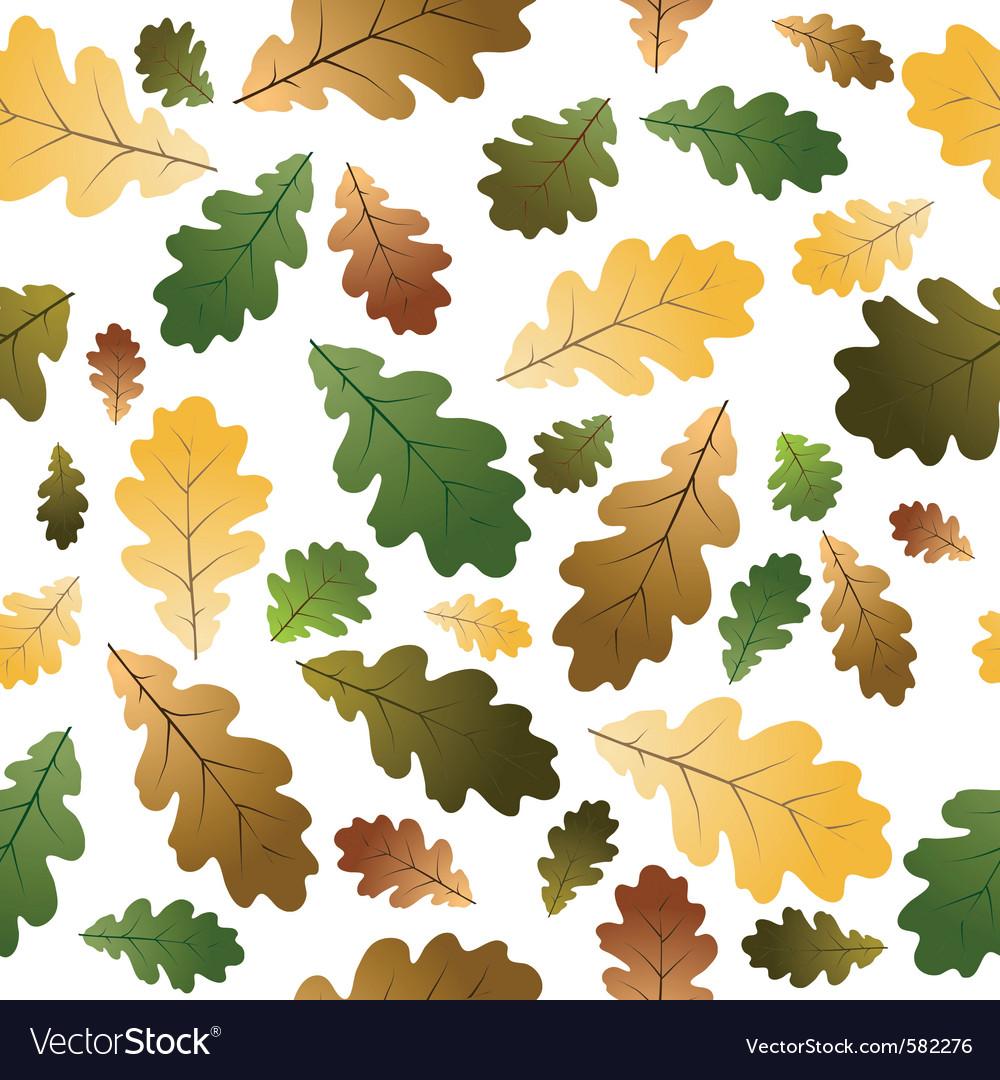 Oak leafs texture vector | Price: 1 Credit (USD $1)