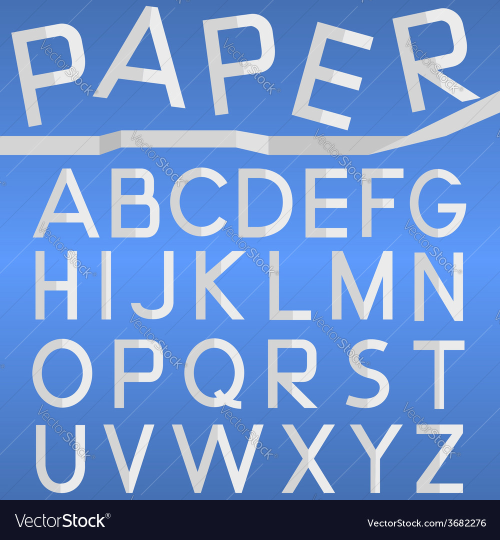 Paper font vector | Price: 1 Credit (USD $1)