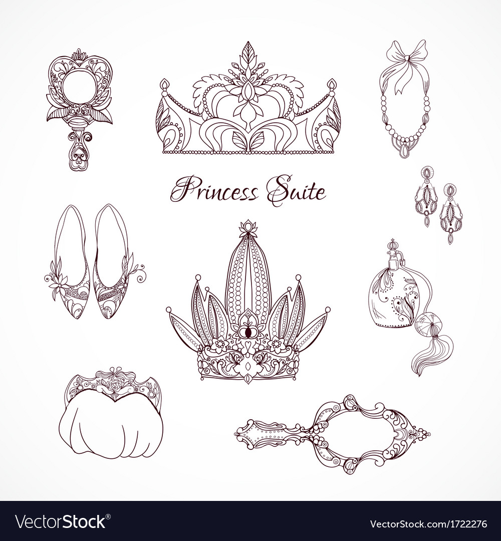 Princess design elements vector | Price: 1 Credit (USD $1)