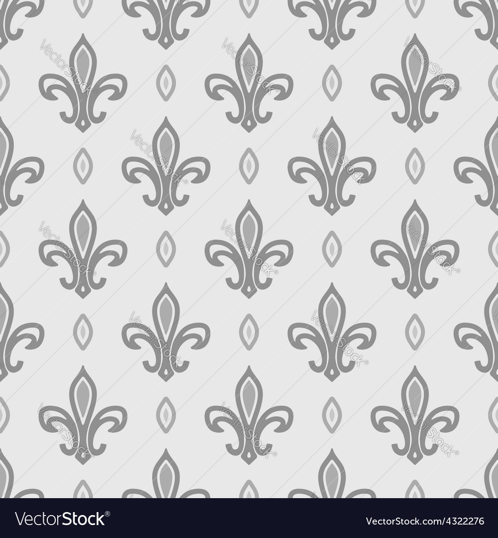 Royal lily seamless pattern vector | Price: 1 Credit (USD $1)