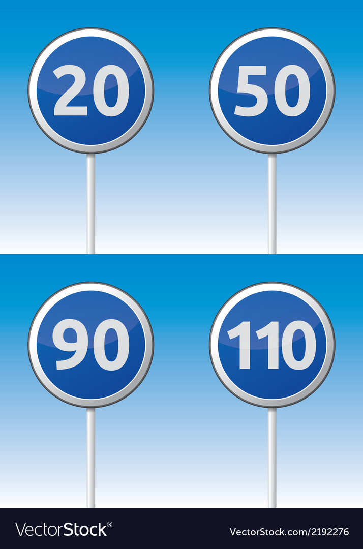 Speed traffic road board vector | Price: 1 Credit (USD $1)