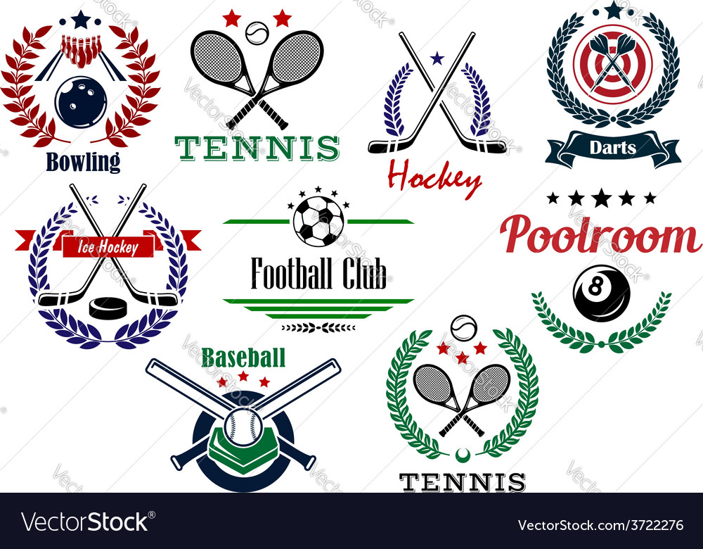 Team and individual sport emblems vector | Price: 1 Credit (USD $1)