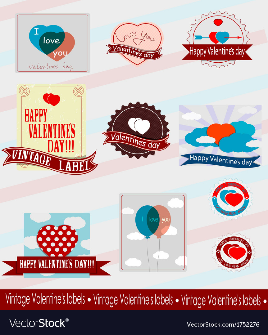 Valentines logos vector | Price: 1 Credit (USD $1)