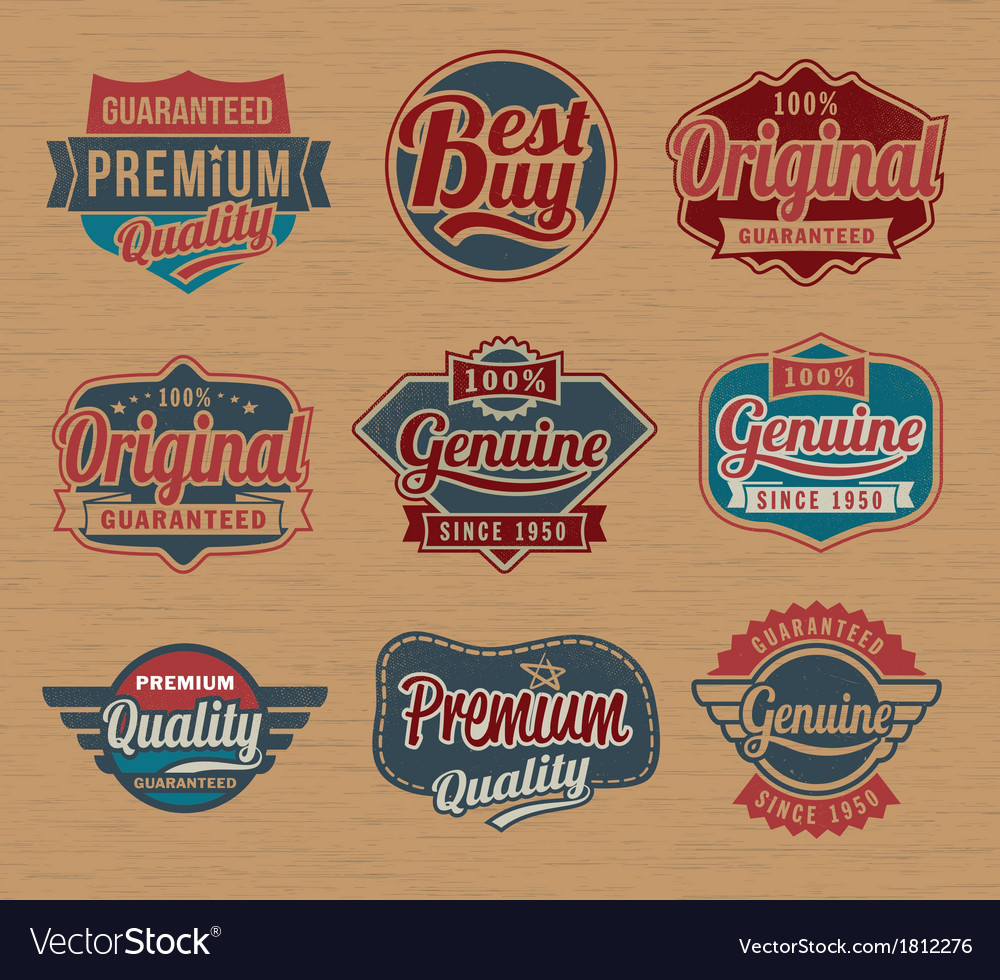 Vintage retro label badges - design element vector | Price: 1 Credit (USD $1)