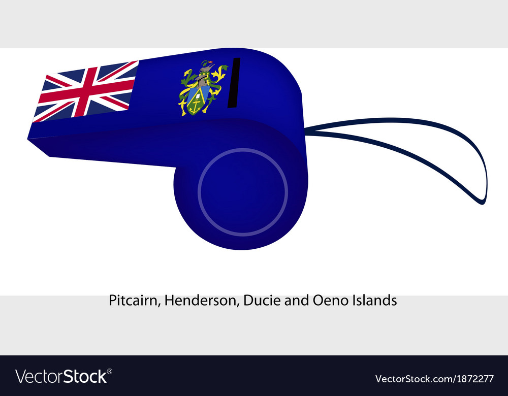 A blue whistle of the pitcairn islands vector | Price: 1 Credit (USD $1)