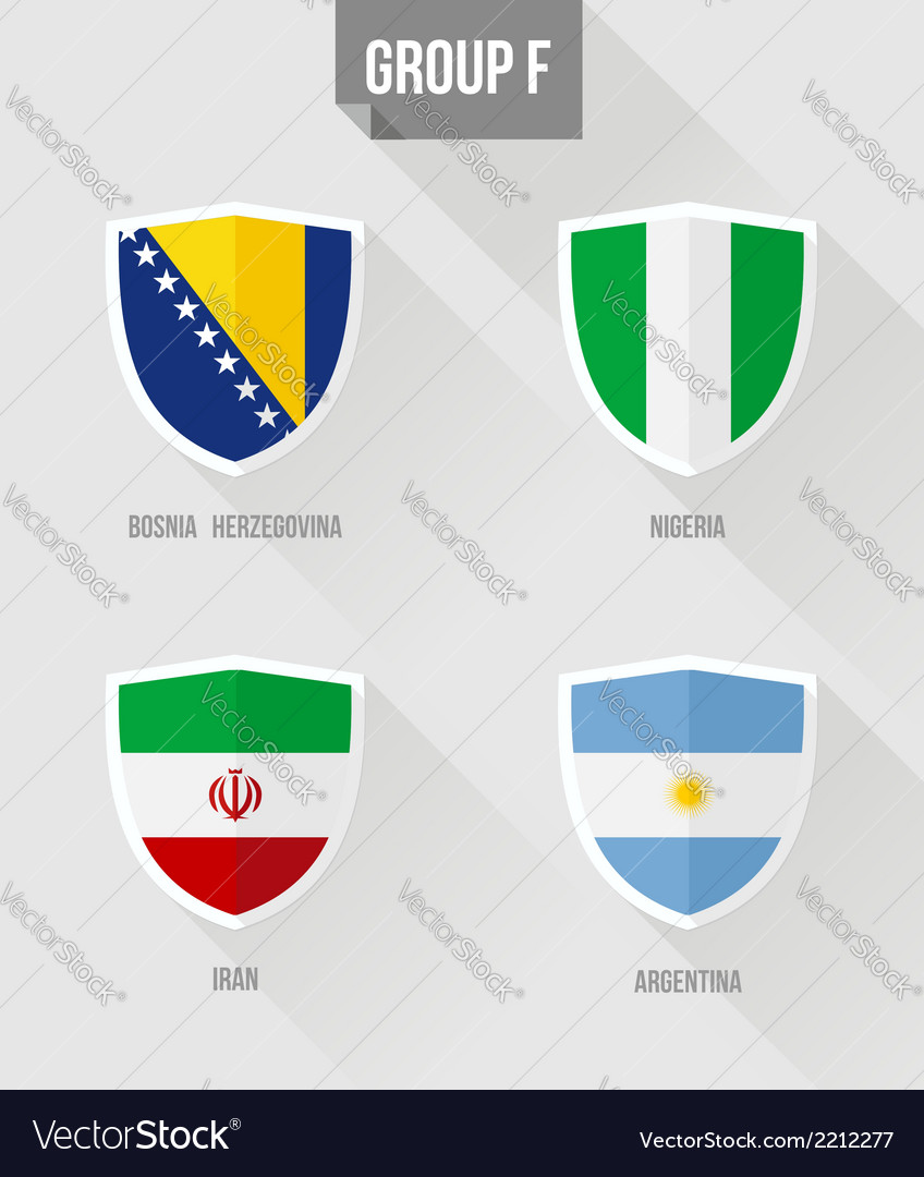 Brazil soccer championship 2014 group f flags vector | Price: 1 Credit (USD $1)