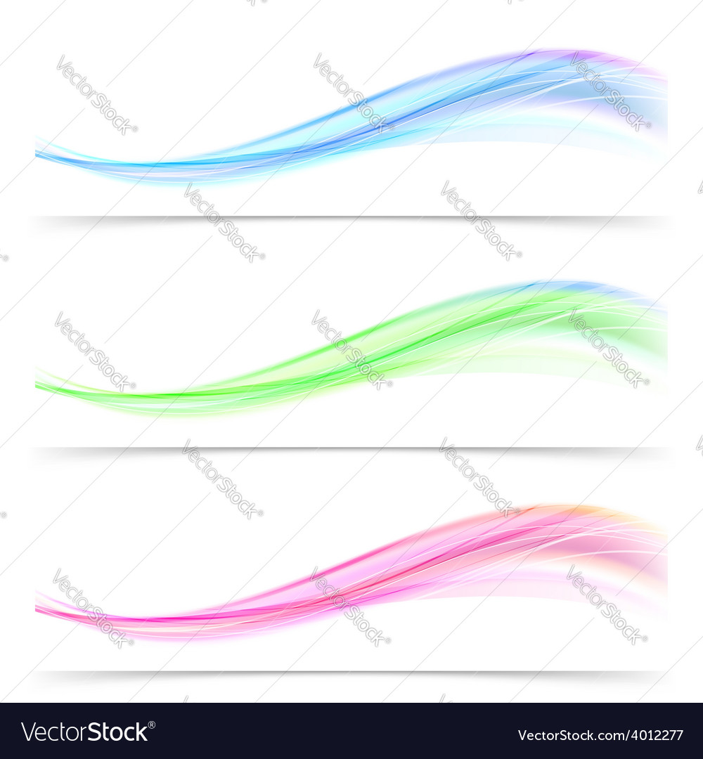 Bright speed swoosh line abstract wave web banner vector | Price: 1 Credit (USD $1)
