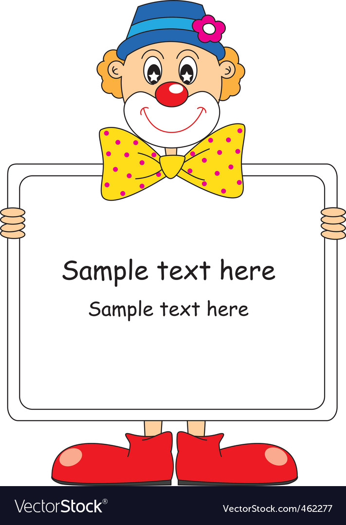 Clown text vector | Price: 1 Credit (USD $1)