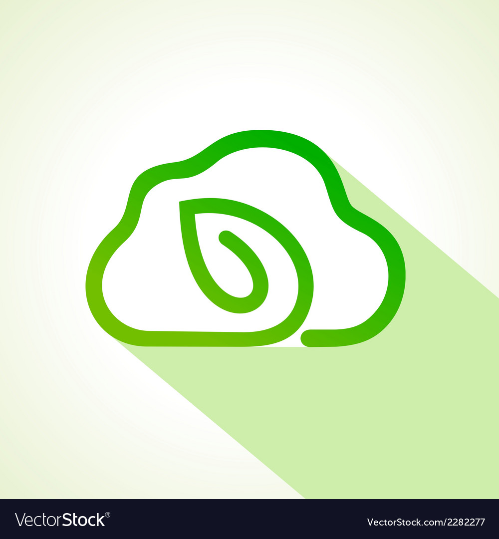 Creative cloud design with leaf shape concept vector | Price: 1 Credit (USD $1)