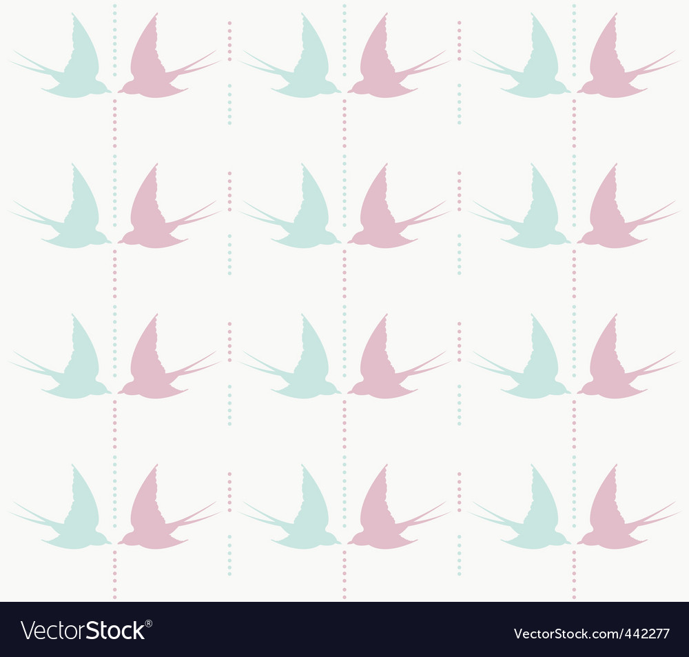 Cute swallow pattern vector | Price: 1 Credit (USD $1)