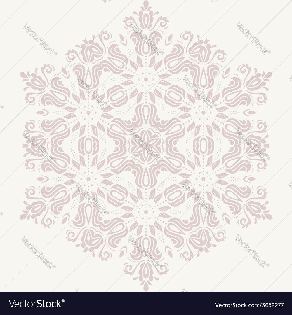 Damask pattern orient pink ornament vector | Price: 1 Credit (USD $1)