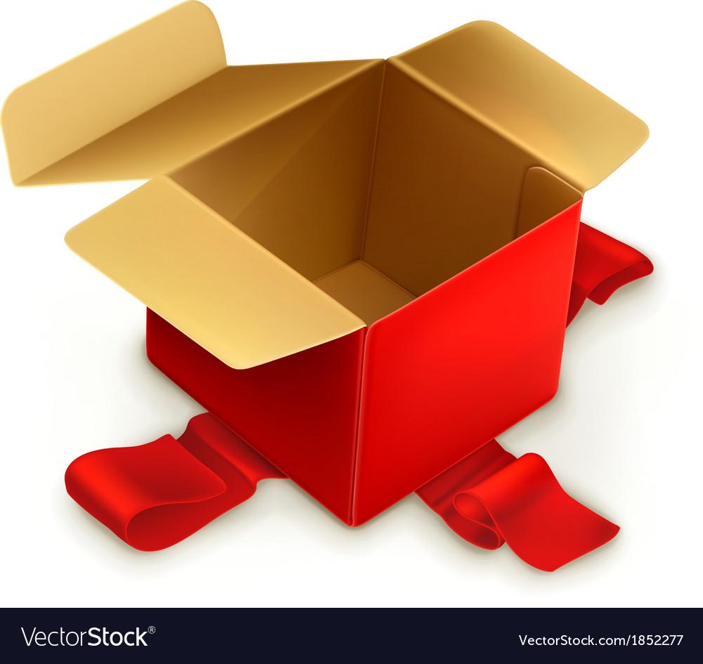 Empty gift box vector | Price: 1 Credit (USD $1)