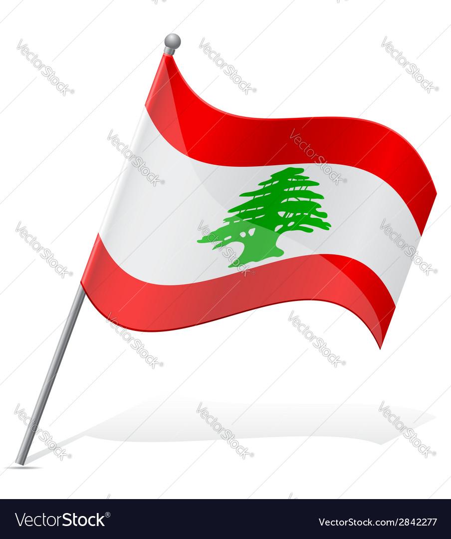 Flag of lebanon vector | Price: 1 Credit (USD $1)