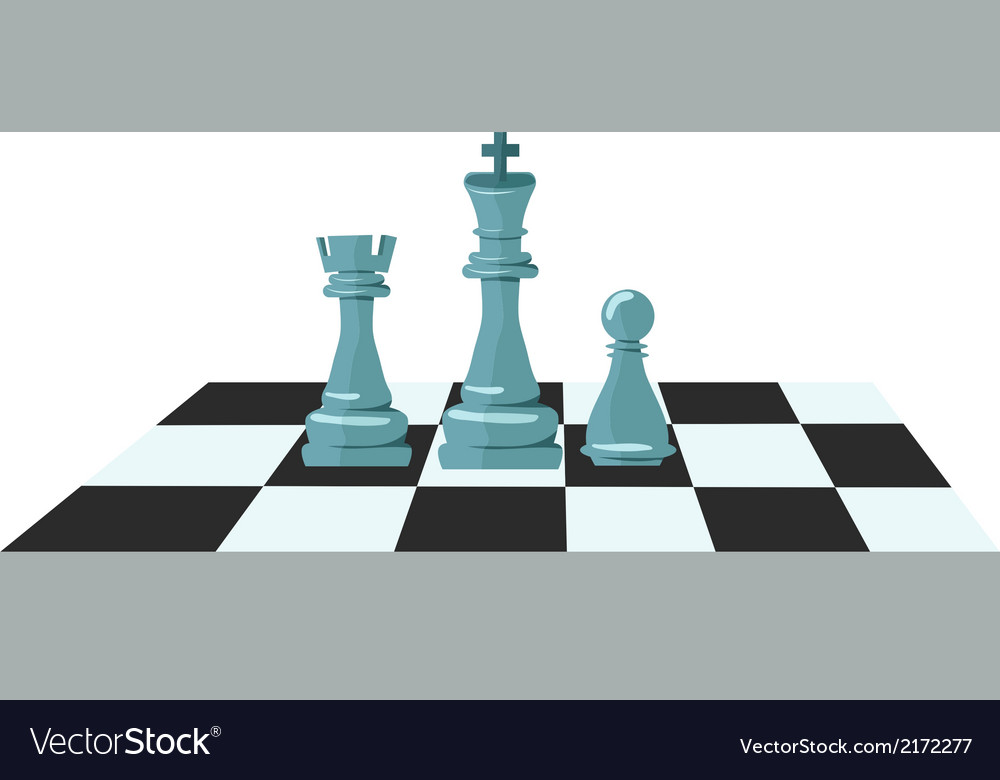 Flat design of chess figures vector | Price: 1 Credit (USD $1)