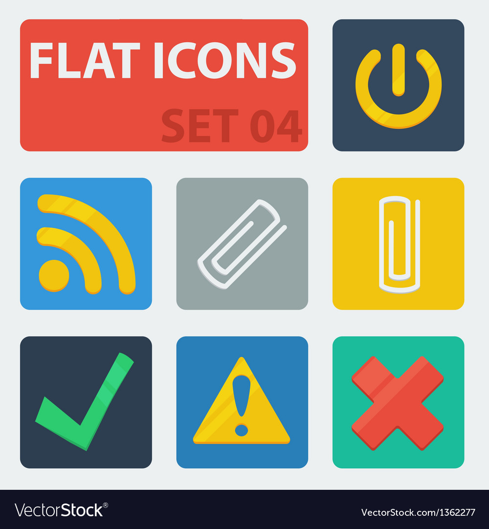 Flat icons set 04 vector | Price: 1 Credit (USD $1)