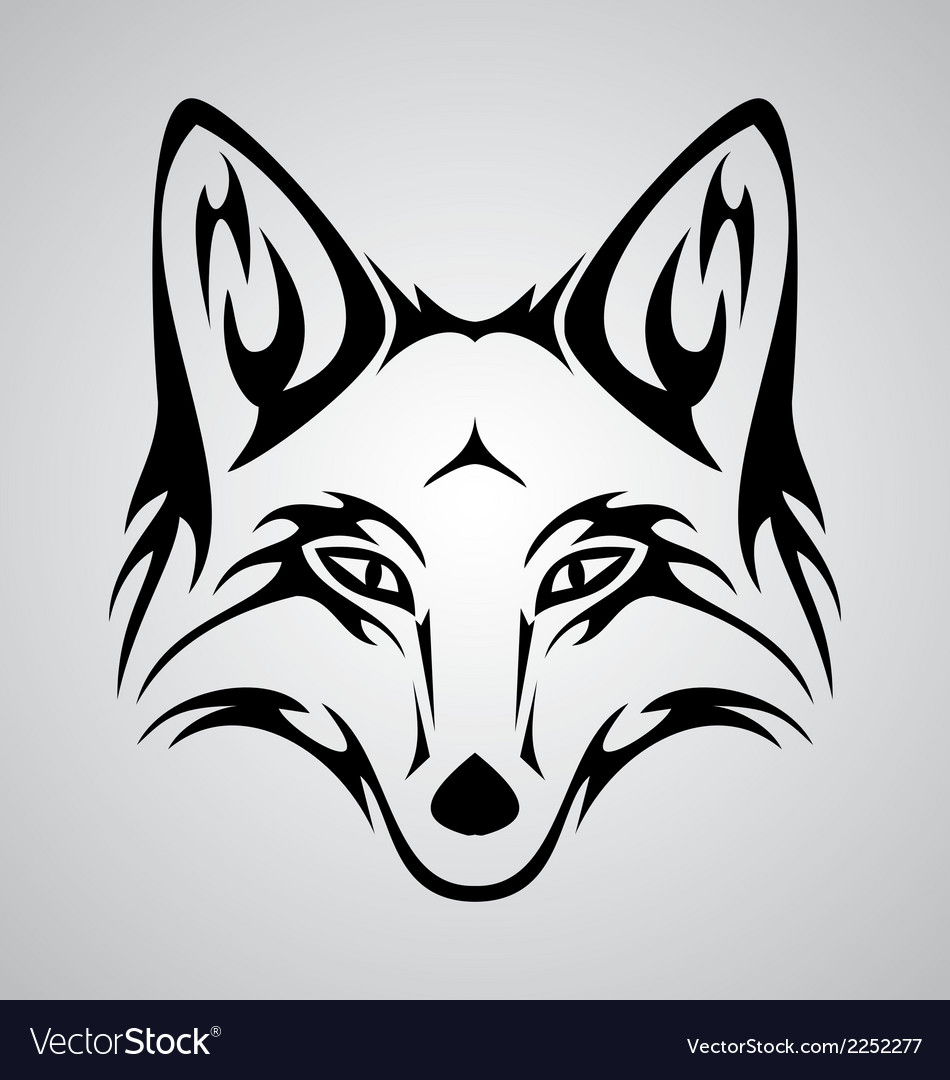 Fox tattoo vector | Price: 1 Credit (USD $1)