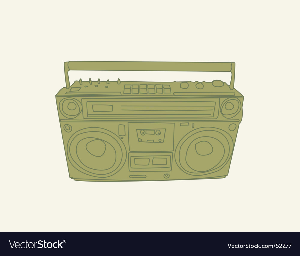 Ghetto-blaster vector | Price: 1 Credit (USD $1)
