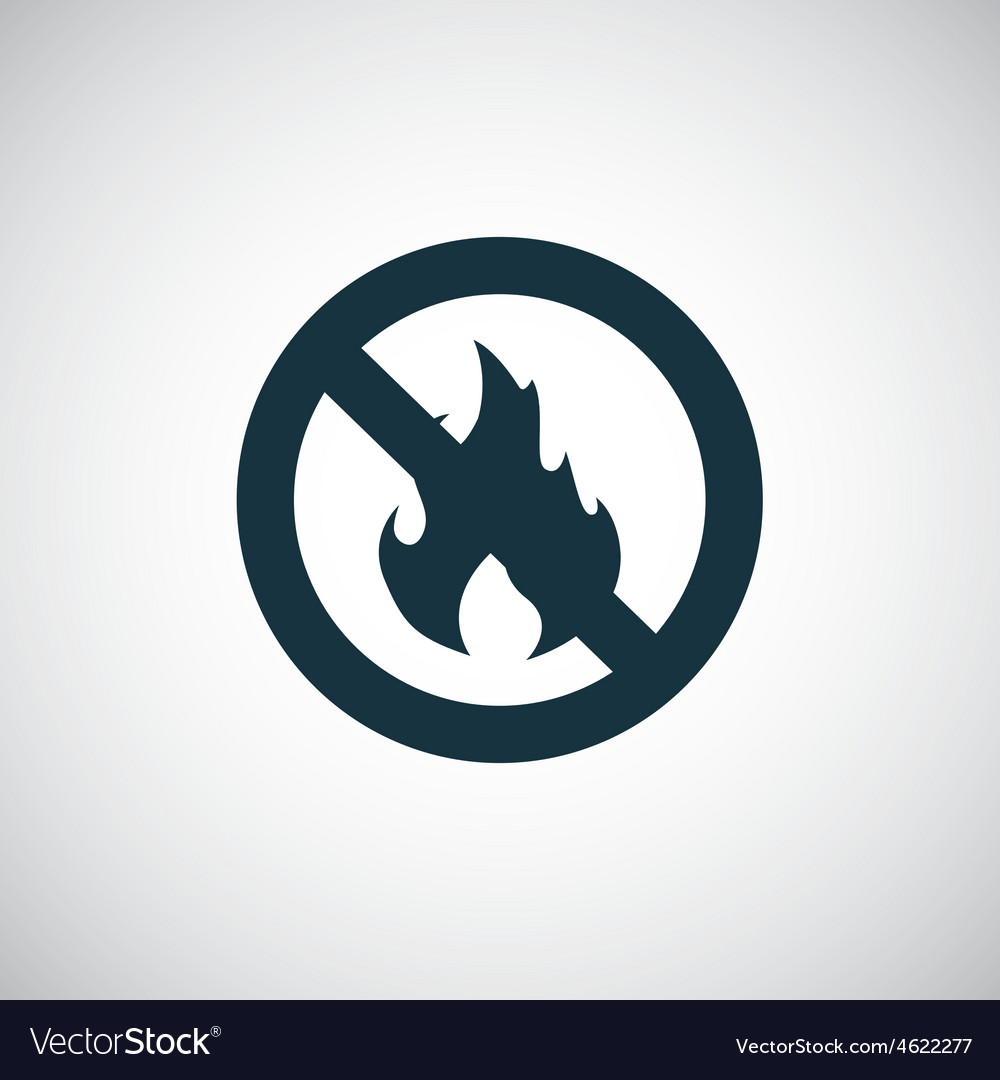 No fire icon vector | Price: 1 Credit (USD $1)