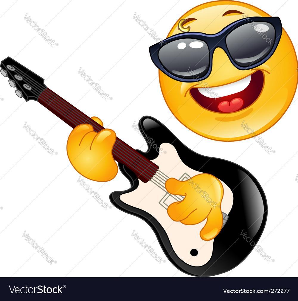 Rock emoticon vector | Price: 1 Credit (USD $1)