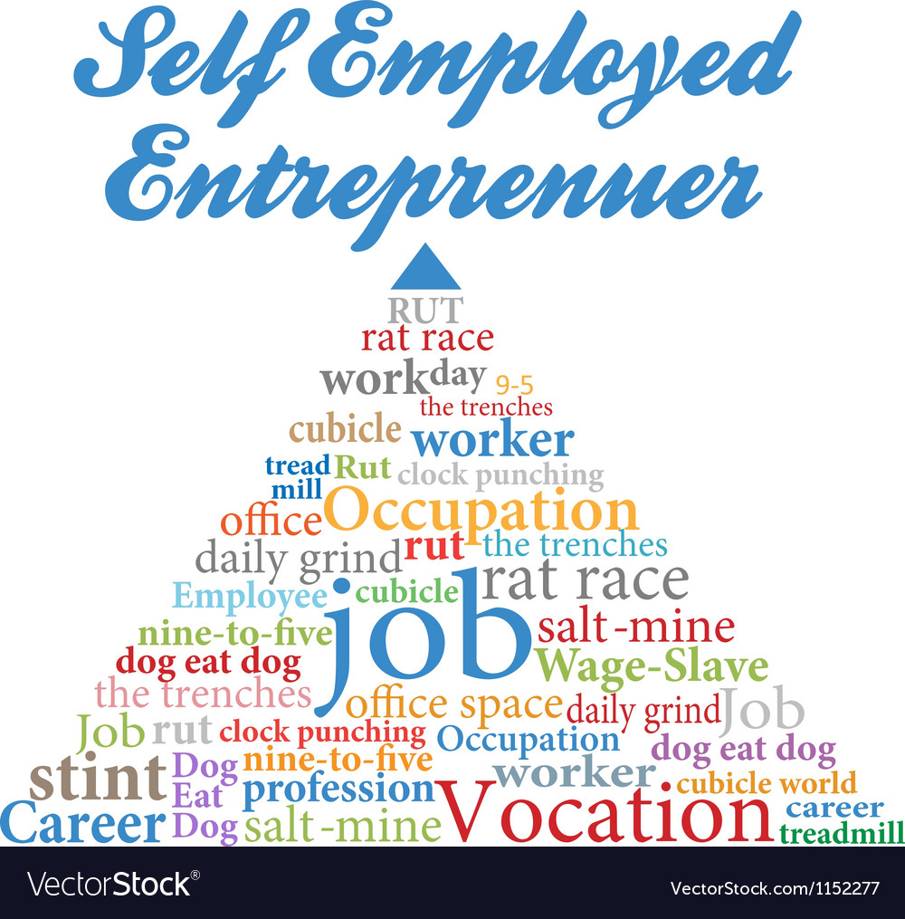 Self employed entrepreneur job occupation vector | Price: 1 Credit (USD $1)