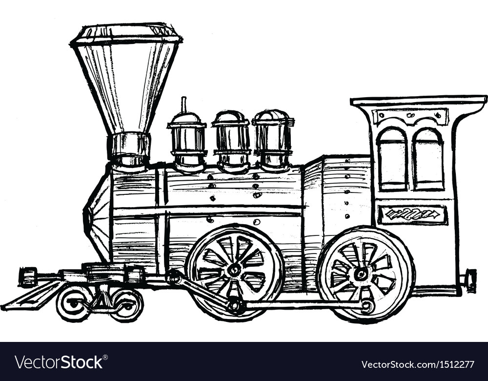Steam train vector | Price: 1 Credit (USD $1)