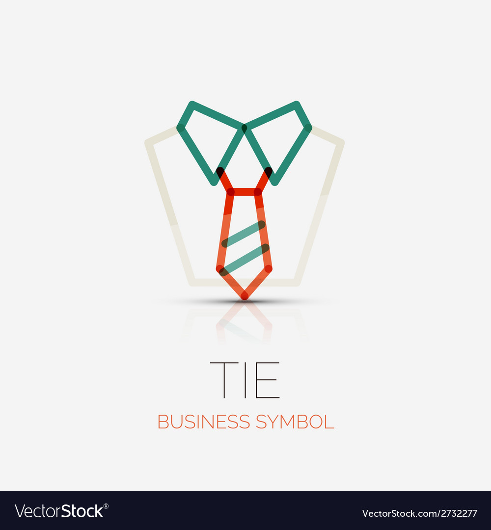 Tie and shirt company logo business concept vector | Price: 1 Credit (USD $1)