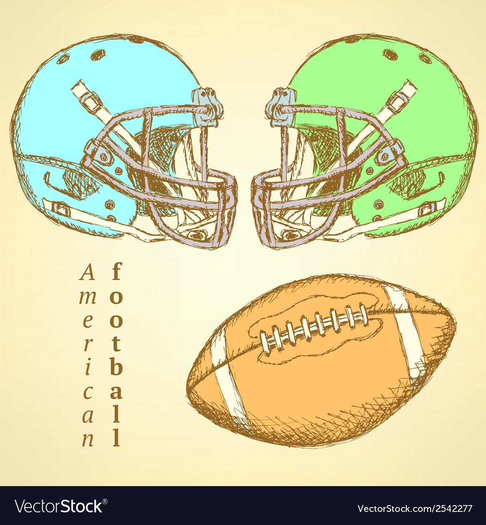 Us helmet ball vector | Price: 1 Credit (USD $1)