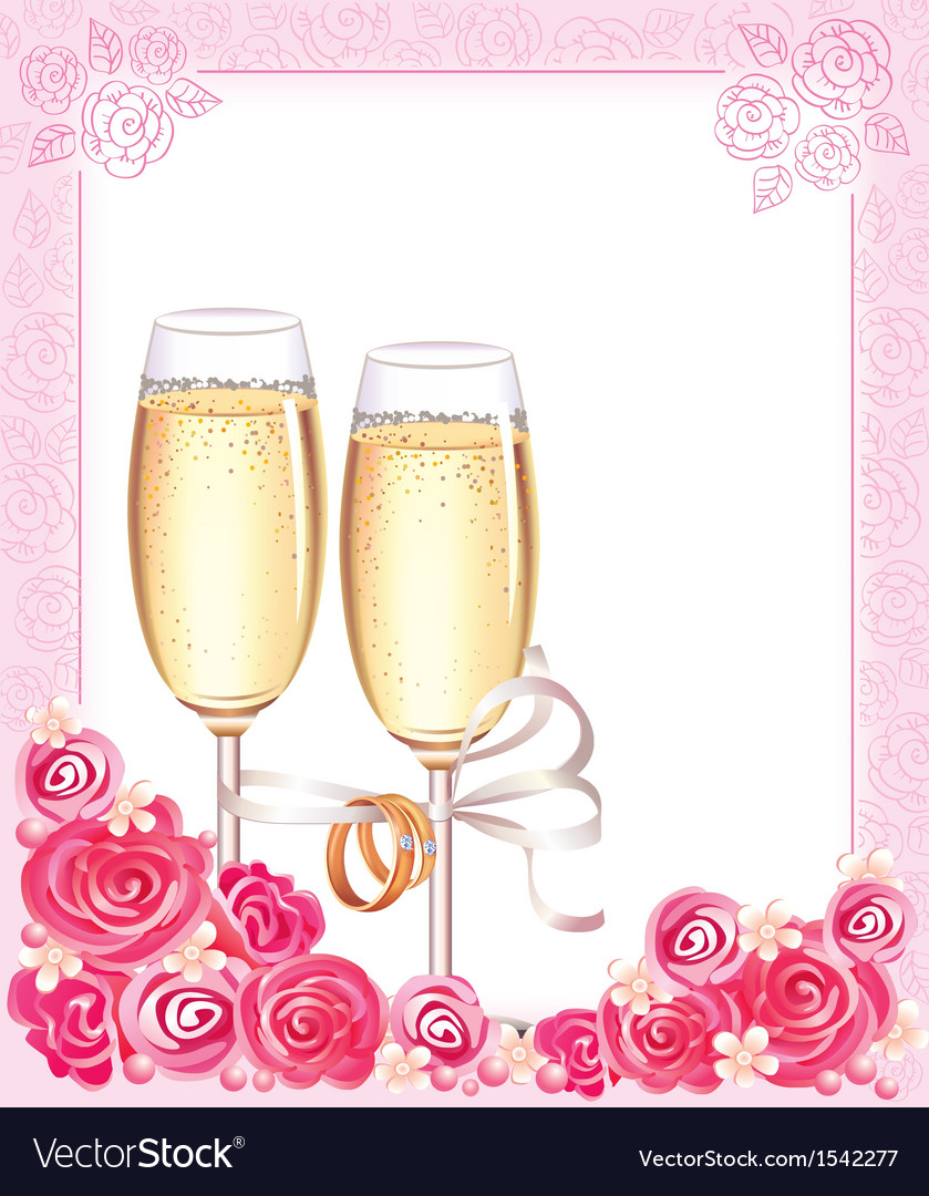Wedding champagne glasses vector | Price: 1 Credit (USD $1)
