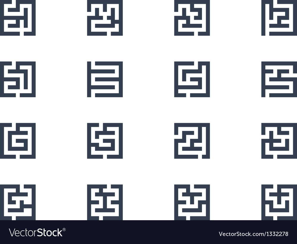Abstract maze symbols vector | Price: 1 Credit (USD $1)