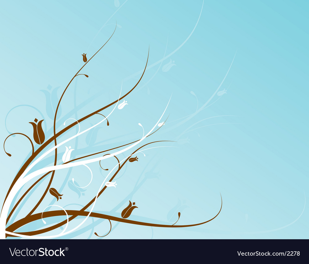 Aqua floral motif vector | Price: 1 Credit (USD $1)