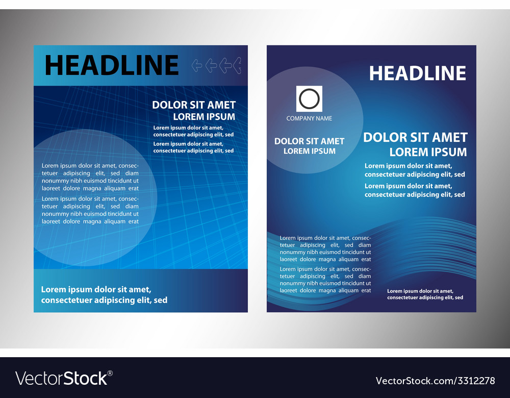 Blue leaflet vector | Price: 1 Credit (USD $1)