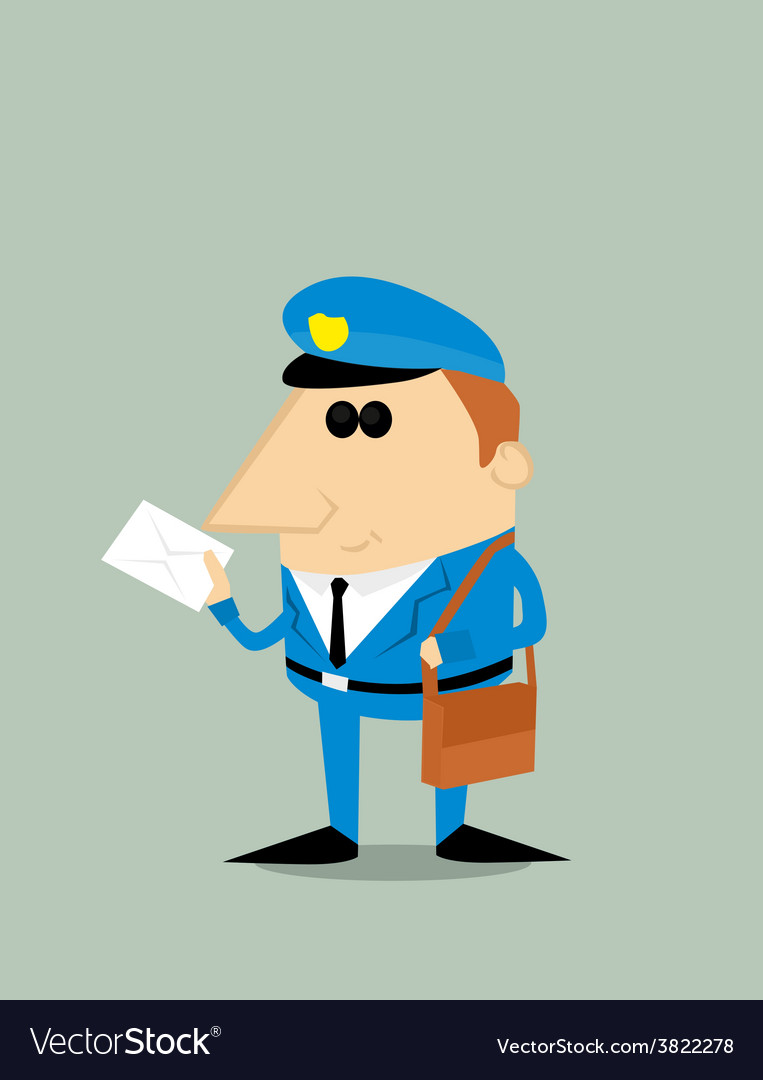 Cartoon postman vector | Price: 1 Credit (USD $1)